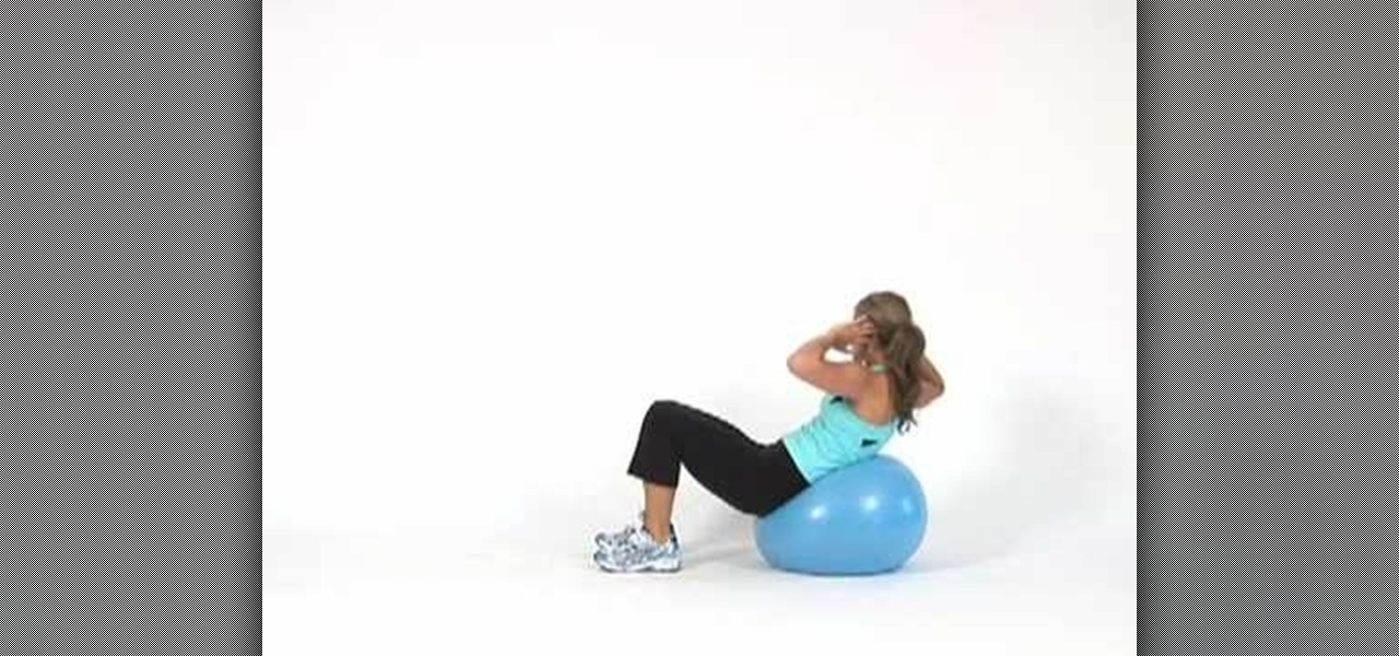 how to do side crunches on an exercise ball 171 exercise