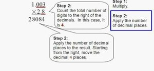 Multiply decimals together