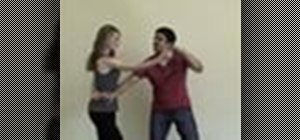 Do a basic salsa dance hammerlock hand flick