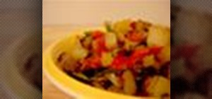 Prepare  vegan winter vegetable hash