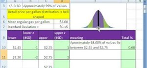 Work with bell curves in Microsoft Excel