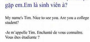 Greet someone in Vietnamese