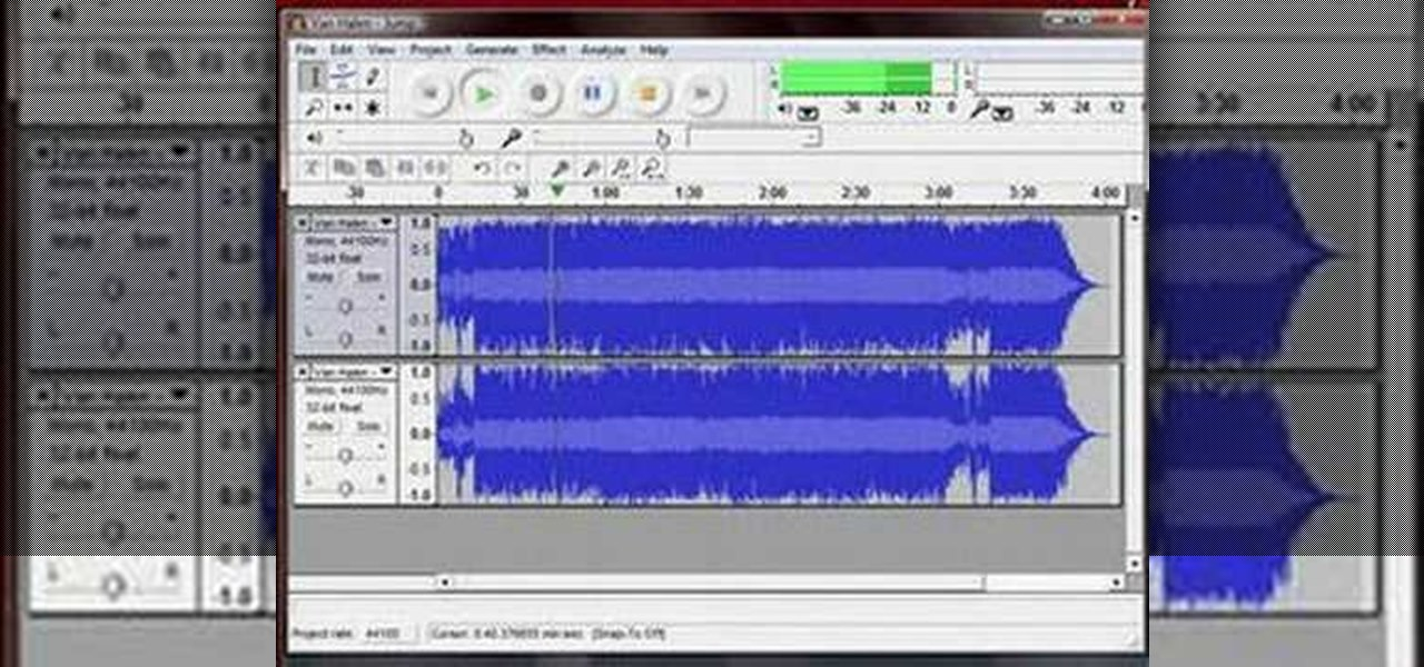 Apply a Minus One Effect to Audio Tracks and Songs Using Audacity