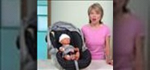 Buckle a baby into a car seat