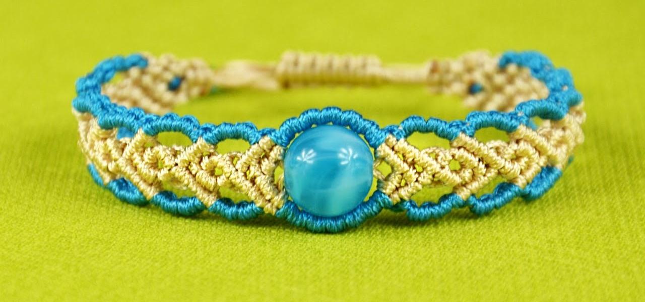 DIY Wavy Herringbone Bracelet