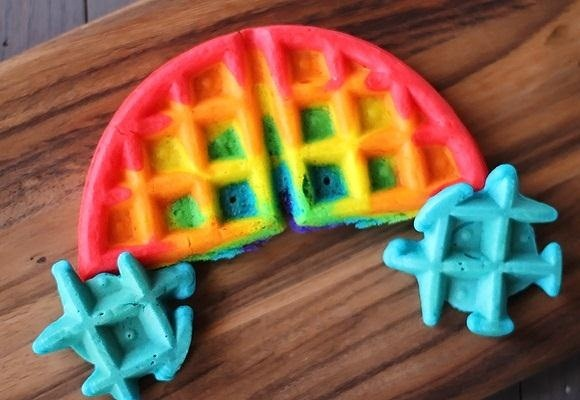Brighten Up Your Breakfast with These Rainbow-Colored Pancake and Waffle Recipes
