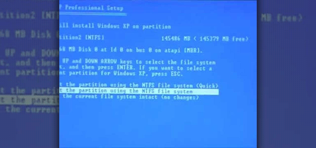 How To Reformat Your Hard Drive To Install Windows Xp
