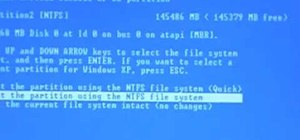 Reformat your hard drive to install Windows XP