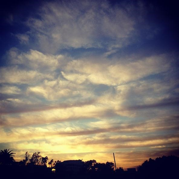 Silhouette Challenge: Rows of Clouds (Instagram on iPhone4s)
