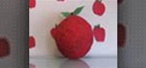 Make a balloon that looks like an apple