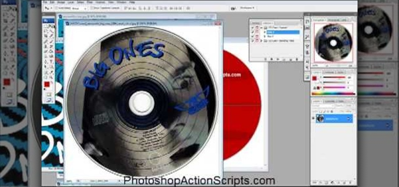 how to create circular cd text in photoshop
