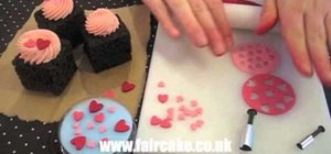Make edible miniature hearts for cupcake decorating