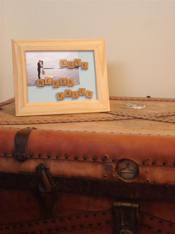 How to Customize a Picture Frame with Scrabble Letters