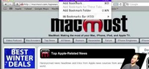 Use the Safari Bookmarks Bar