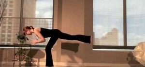 Do a creative core vinyasa yoga flow to tone the lower body and side abs