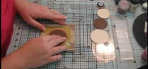 Create an autumn inspired mini-scrapbook