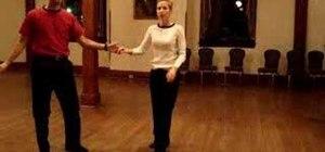Dance a J-Hook lindy hop move