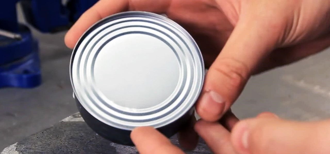 Break Open a Can of Food Without a Can Opener