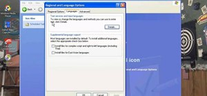 Change your clock, language, and region in Windows XP