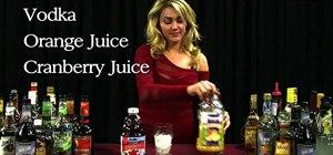 Mix a Madras cocktail with vodka, orange juice and cranberry juice