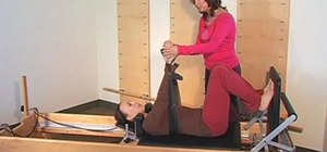 Work upper and lower extremities on a Pilates Reformer