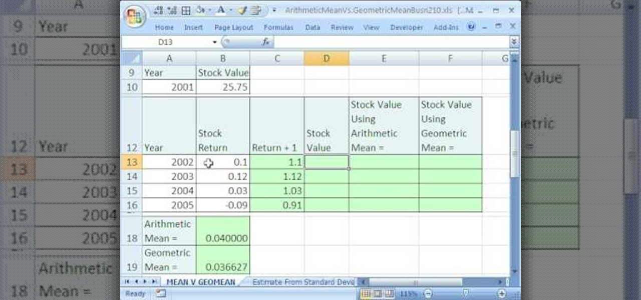 Excel Average Formula How To Calculate Geometric Average