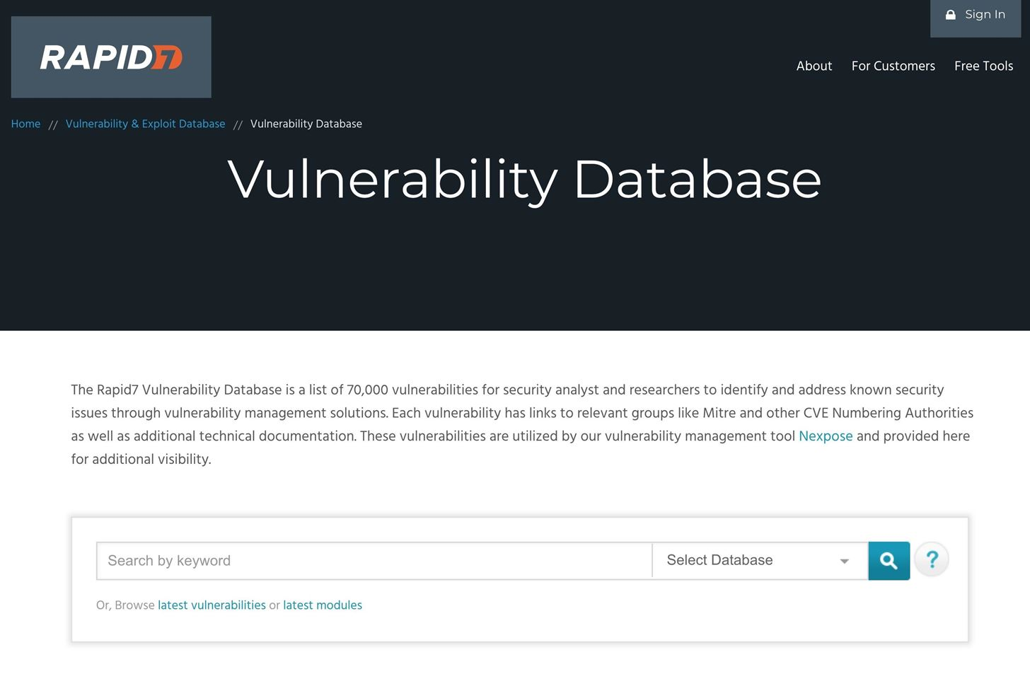 Top 10 exploitation databases to find security issues