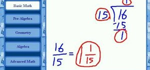 Divide fractions with unlike denominators