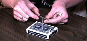 Perform the house of nails bar trick