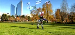 Sweetly Surreal Robo-Tourist Takes on Paris