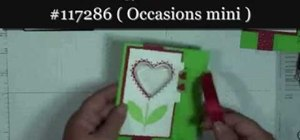 Make a heart-themed card with a treat/candy cup