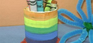 Make a simple pencil holder
