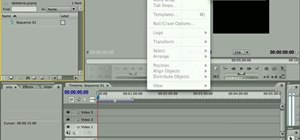 Add and edit title text in Adobe Premiere CS4 or CS5