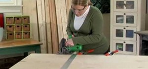 Use a circular saw and miter box with Lowe's