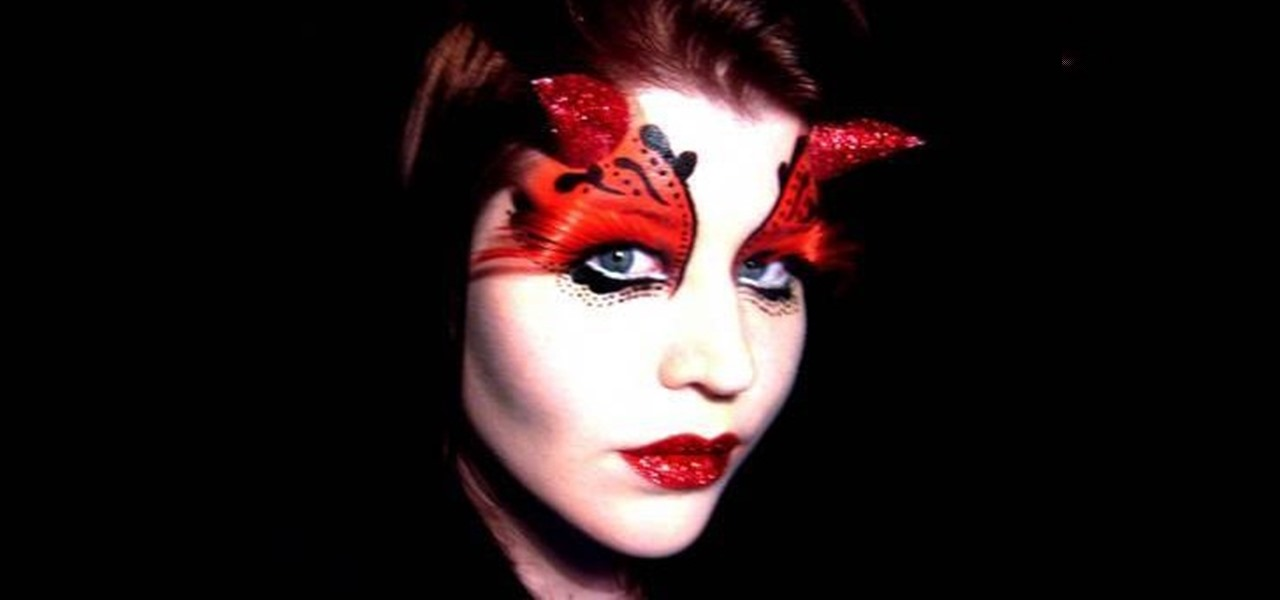 How to Apply gothic she-devil fairy makeup for Halloween ...