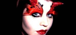 Apply gothic she-devil fairy makeup for Halloween