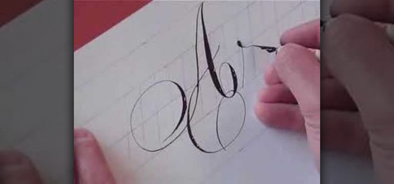How To Write In Calligraphy Copperplate Drawing