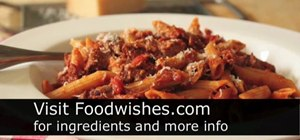 Make beef meat sauce for pasta with cherry tomatoes