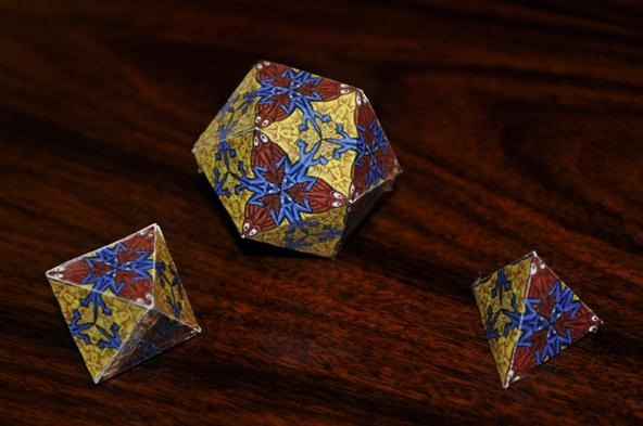 Math Craft Monday: Community Submissions (Plus How to Make Escheresque Tessellated Cubes)
