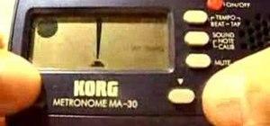Use a Korg MA 30 metronome