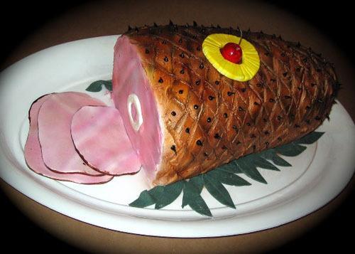 Cake that looks like Ham