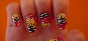 Paint party animal print nails