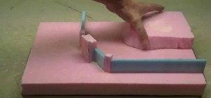 Use foam to make diorama terrain