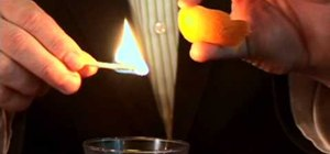 Flame a citrus peel