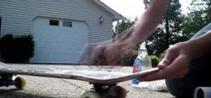 Clean your skateboard griptape