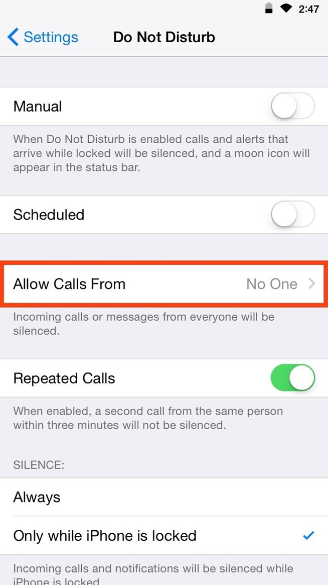 """Customize """"Do Not Disturb"""" on Your iPhone So Important Calls Always Get Through"""