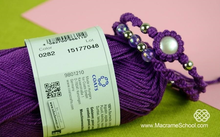 Macrame Double Spiral Bracelet