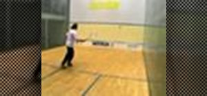 Hit a forehand lob in squash