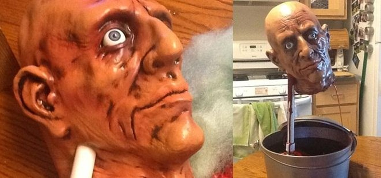 DIY Decapitated Head Drinking Fountain: The Perfect Way to Serve Blood-Red Punch on Halloween